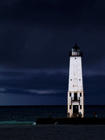 Storm Warning at the Frankfort North Pierhead Light